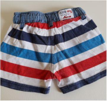 Shorts listrado Chicco 6M - 3 a 6 meses - Chicco
