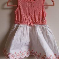Vestido rosa e branco Náutica 18M