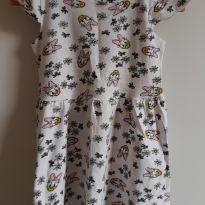 Vestido branco da Margarida Tam. 3 - 2 anos - Disney