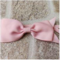 Faixa de cabelo com laço rosa claro até 1 ano -  - Artesanal