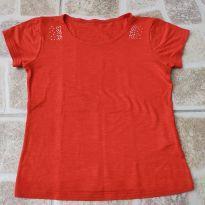 Camiseta vermelha com strass Tam. 6 - 4 anos - Retec
