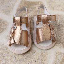 Sandália bronze com laço Pimpolho tam. 1 - 01 - Pimpolho