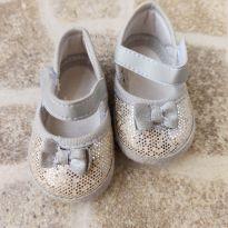 Sapatilha de tecido prata com brilhos Pimpolho Tam. 2 - 02 - Pimpolho