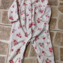 Pijama macacão de fleece floral, Carter`s, Tam. 6M - 3 a 6 meses - Carter`s