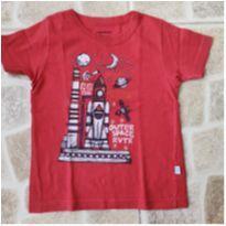 Camiseta vermelha - Rovitex - Tam. 1 - 1 ano - Rovitex