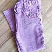 Calça jeans roxa - Chicco - Tam. 3 - 3 anos - Chicco