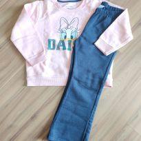 Conjunto de blusa e calça de moletom (Margarida) - Disney - Tam. 4 - 4 anos - Disney