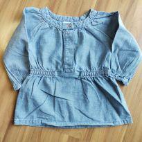 Blusinha manga longa jeans - Carter`s - Tam. 6M - 3 a 6 meses - Carter`s