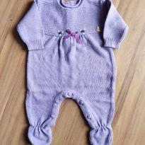 Macacão de tricot / Saída de maternidade Lilás - Paola da Vinci - RN - Recém Nascido - Paola Da Vinci