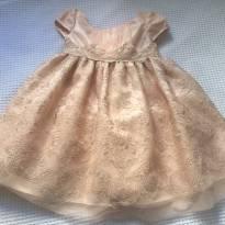 Vestido de Festa - Dourado - Maravilhoso - 18 a 24 meses - Bonnie Baby