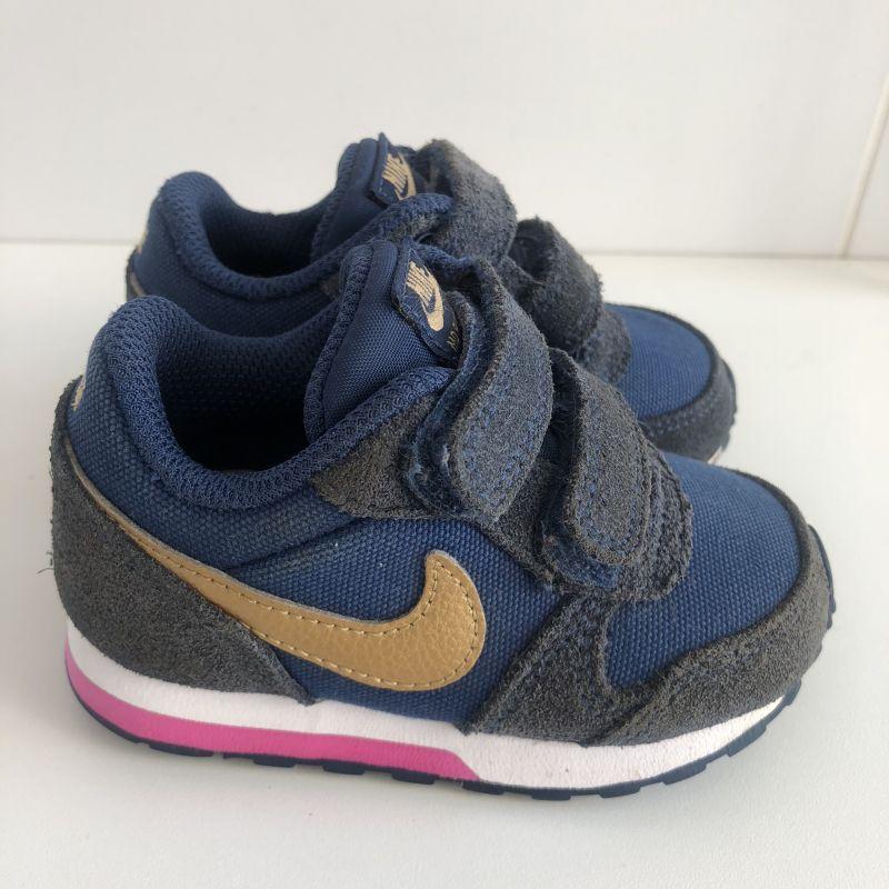 a4080d0dfa Tênis Nike - MD Runner 2 - Azul Dourado 20 no Ficou Pequeno ...