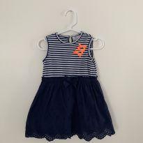 Vestido epk - marinho com listras - 24 a 36 meses - EPK