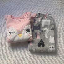 Pijama conjunto fleece - Carter`s - Coruja - 3 anos - Carter`s