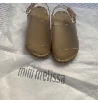 Mini Melissa Beach Slide Sandal - bege glitter - 22 - Melissa