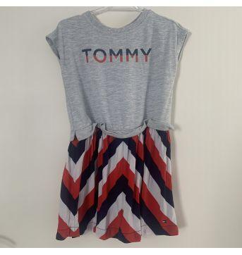 Vestido Tommy Hilfiger - cinza - 2 anos - Tommy Hilfiger