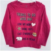 Camiseta Manga Longa - Carter`s - Pink Babadinho - 3 anos - Carter`s