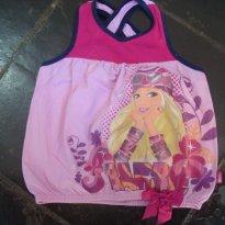 Blusa Fem Regata Barbie Tam 6 - 6 anos - Barbie