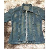 jaqueta jeans feminina bokker jeans tamanho m - 13 anos - Bokker