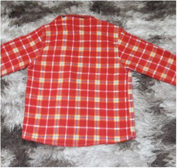 Camisa Masc Xadrez Flanelada Tam 14 com chapéu - 11 anos - Não informada