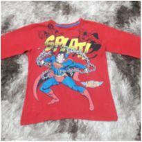 Camiseta Masc Manga Longa Superman Tam 8/10
