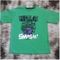 Camiseta Masc Manga Curta Avengers Hulk Tam 8 NOVA - 8 anos - Avengers