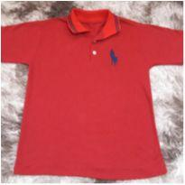 Camiseta Masc Polo Manga Curta Tam 10 - 10 anos - Não informada