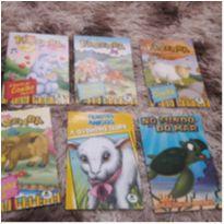 lote com 6 livrinhos infantis com a temática de animais -  - Não informada
