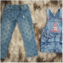 Lote de roupas Jeans Fem Tam 3 - 3 anos - Popcorn e chicote baby