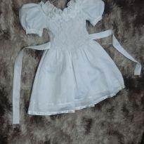 Vestido de Festa Infantil Branco Tam 10 - 10 anos - Marie