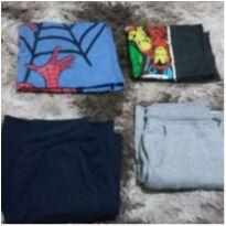 lote de roupas infantis masc manga curta tam 10/12 - 10 anos - Diversas