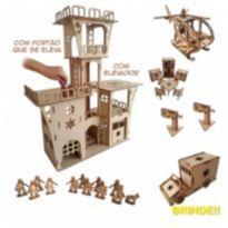 Brinquedo de Madeira Torre Policial