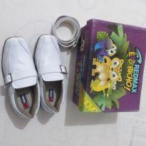 Sapato Social Juvenil Masculino Branco + Cinto | Classic - 25 - RedMax