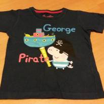 Camiseta azul marinho George Pig - 2 anos - Renner