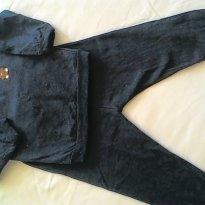 Conjunto moletom Azul Marinho - 9 a 12 meses - Basic + Baby