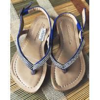 Sandália strass Azul - 23 - Ludique et Badin