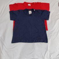 Camisetas Básicas - 9 a 12 meses - Só Malhas baby
