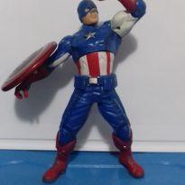Avengers Vingadores Boneco Capitão América Lança Escudo e Fala -  - Hasbro
