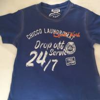 Camiseta azul estilo street Chicco - 2 anos - Chicco