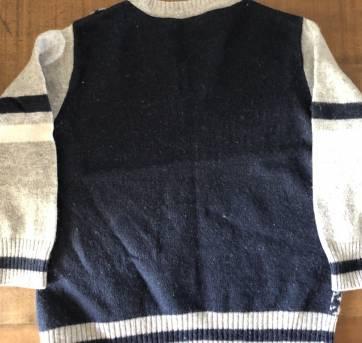 Lindo casaquinho de lã cinza e azul da Chicco - 1 ano - Chicco