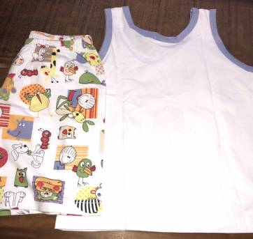 Pijama de camiseta regata com short com animais do Sonhart - 2 anos - Sonhart