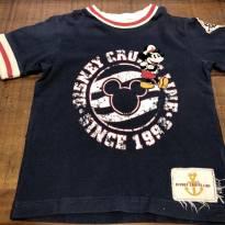 Camiseta azul marinho com detalhes vermelho e branco Mickey Disney Cruise Line - 4 anos - Disney