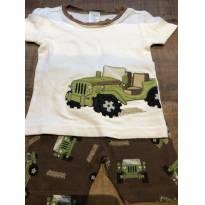 Pijama Caminhonete marrom e branco Gymboree - 12 a 18 meses - Gymboree