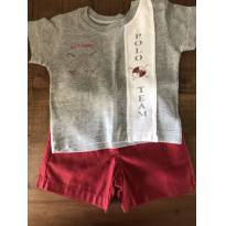 Conjuntinho de camiseta e short Baby Classic - 9 a 12 meses - Baby Classic