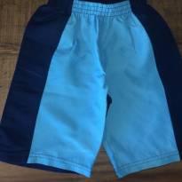 Bermuda em tactel azul claro e marinho Nini & Bambini - 4 anos - Nini e Bambini