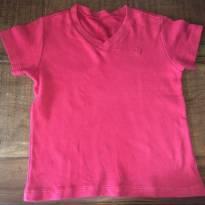 camiseta vermelha de algodão egipcio gola V da Bibe - 2 anos - BIBE