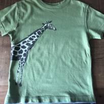 camiseta verde com Girafa Baby Gap - 2 anos - Baby Gap