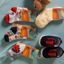 Kit de meias com sapatinho novíssimo - 13 - Sem marca