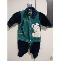 Macacão de urso vestido de coelho - 0 a 3 meses - Creep Baby