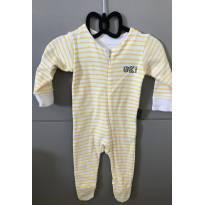 Macacão amarelinho bebê básico novíssimo - 0 a 3 meses - BB Básico