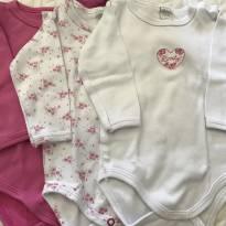 Kit 3 bodies manga longa 100% algodão baby classic (bem novinhos) - 3 meses - Baby Classic